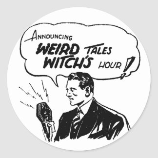 Weird Tales Witches Hour Classic Round Sticker