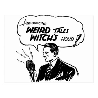 Weird Tales Witches Hour Postcard