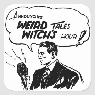 Weird Tales Witches Hour Square Sticker