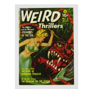 weird thrillers horror comic poster FROM 14.95