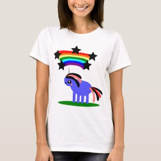 Weird Unicorn and Happy Hippy Rainbow T-Shirt
