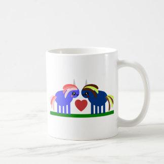 Weird Unicorn Falls in Love Coffee Mug