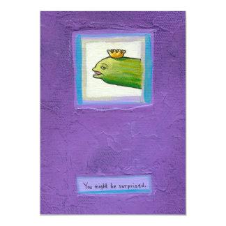 Weird unique fun original art pickle poet eel king card