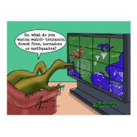 Weird Weather Dinosaurs postcard 2