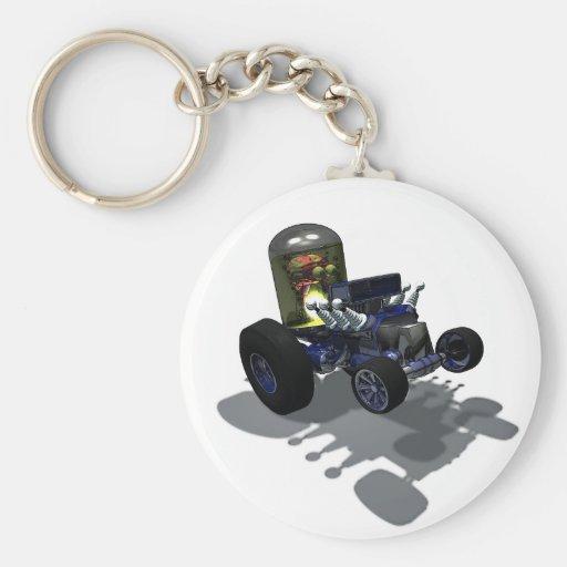 Weird Wheels Mad Brain Keychain