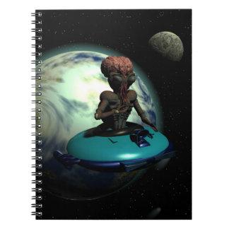 Weird Wheels Outa This World Notebook