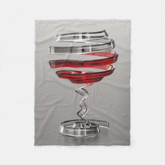 Weird Wine Glass Small Fleece Blanket