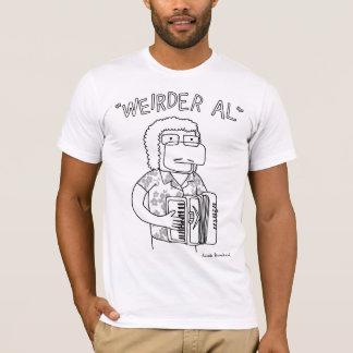 """Weirder Al"" in black and white T-Shirt"