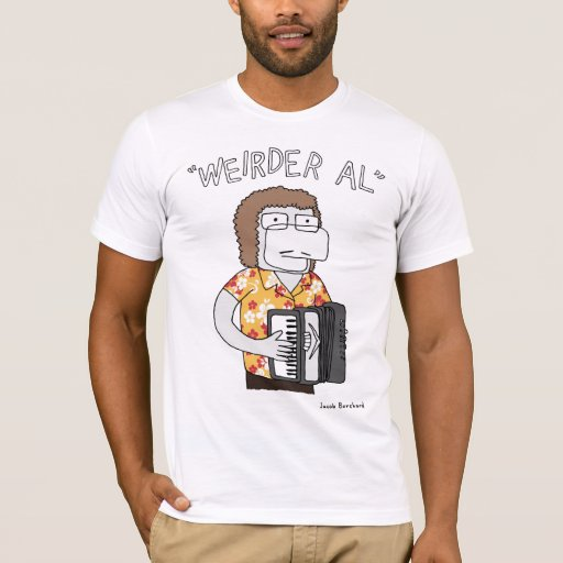 Weirder al in gold t shirt zazzle for T shirt printing mobile al