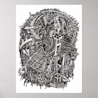 Weirdhead, by Brian Benson, poster
