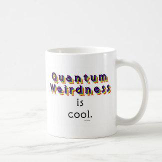 Weirdness de Quantum Taza Básica Blanca