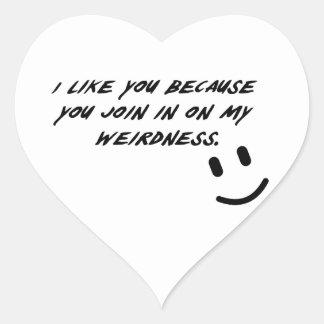 Weirdness Heart Sticker