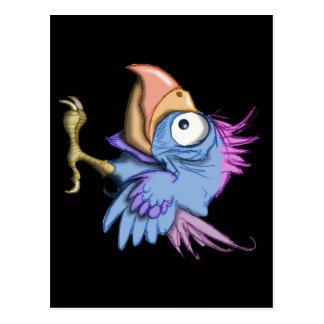 Weirdo Bird Postcard