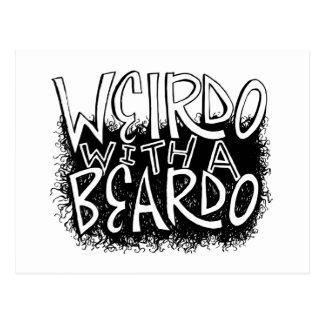 Weirdo with a Beardo Postcard