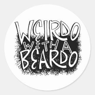 Weirdo with a Beardo Classic Round Sticker