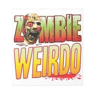 Weirdo Zombie Head Memo Note Pad