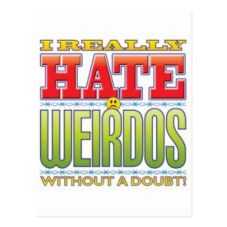 Weirdos Hate Face Postcard