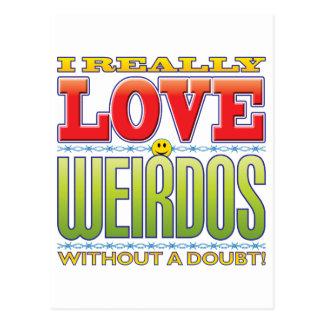 Weirdos Love Face Postcard