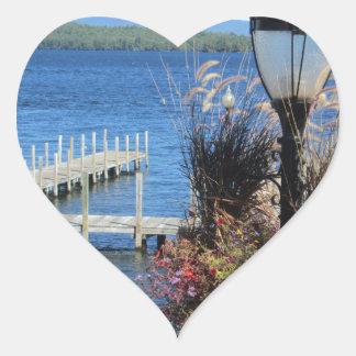 Weirs Beach Dock Heart Sticker