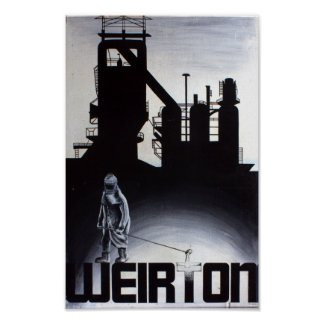 Weirton Steel Mill Blast Furnace Poster