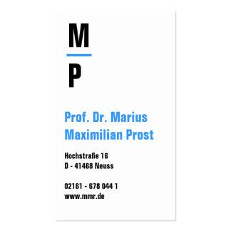 Weis azul tarjeta de presentación tarjetas personales