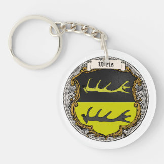 Weis (Oppenheim) Family Arms Single-Sided Round Acrylic Keychain