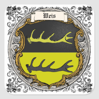 Weis (Oppenheim) Family Arms Square Sticker