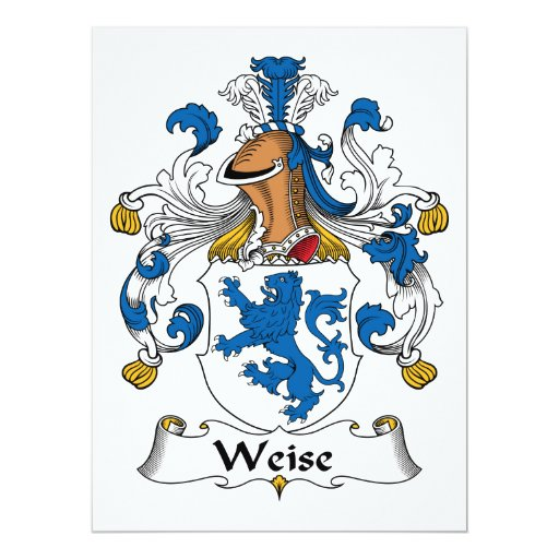 Weise Family Crest Invitations