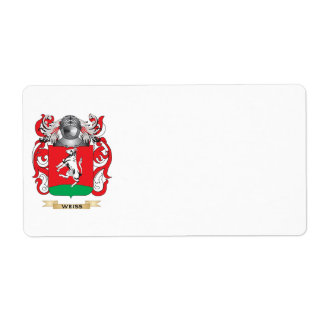 Weiss Family Crest (Coat of Arms) Shipping Label
