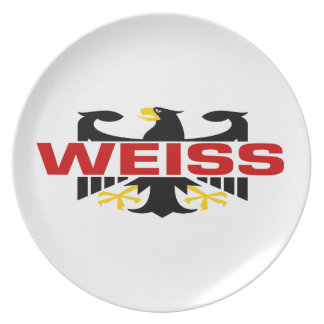 Weiss Surname Melamine Plate