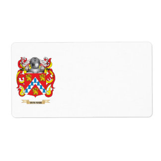 Weisse Family Crest (Coat of Arms) Shipping Label