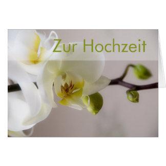 Weisse Orchidee • Glueckwunschkarte Hochzeit