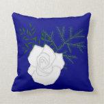 weiße Rose Throw Pillows