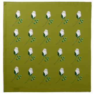 weiße Rosen Cloth Napkin