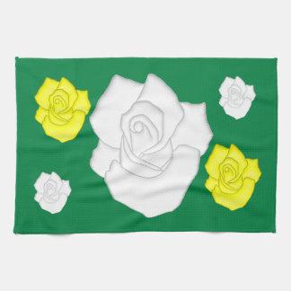 weiße Rosen Kitchen Towels