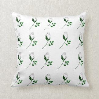 weiße Rosen Throw Pillow
