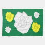 weiße Rosen Toallas De Mano