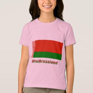 Weißrussland Flagge mit Namen T-Shirt
