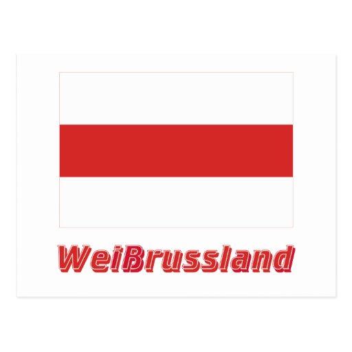 Weißrussland völkische Flagg mit Namen Post Card