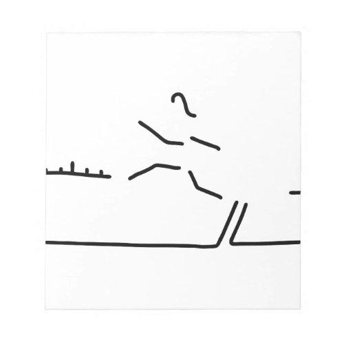 weitsprung leichtathletik weitspringer notepad