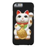 welc japonés del talismán del encanto del gato funda de iPhone 6 barely there