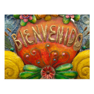 Welcom sign in Spanish, Mexico Postcard