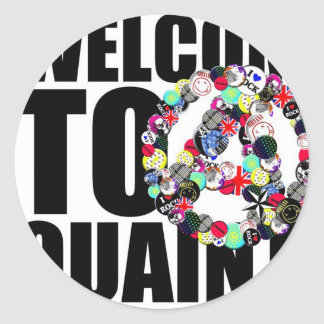 Welcom to QUAINT Classic Round Sticker
