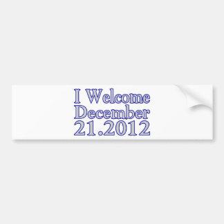 Welcome 2012 bumper sticker