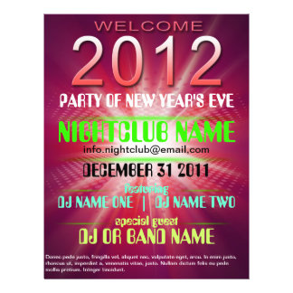 welcome 2012 flyer