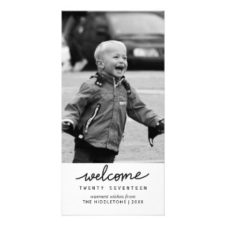 Welcome 2017 Handwritten Typography New Year Card