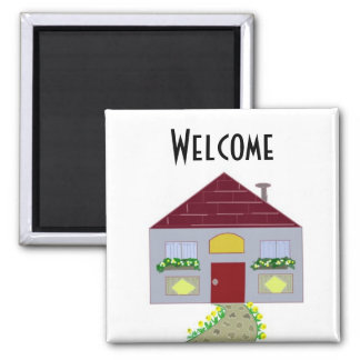 Welcome 2 Inch Square Magnet