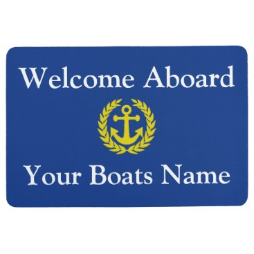 customizedgifts Welcome aboard boat or yacht floor mat