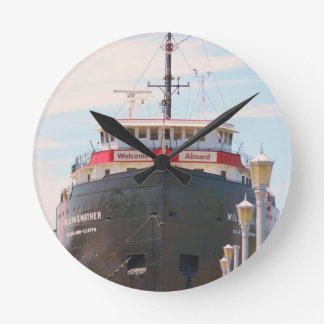 """Welcome Aboard"" collection Round Clock"
