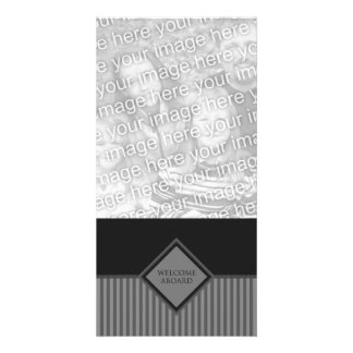welcome aboard (diamondStriped) Personalized Photo Card